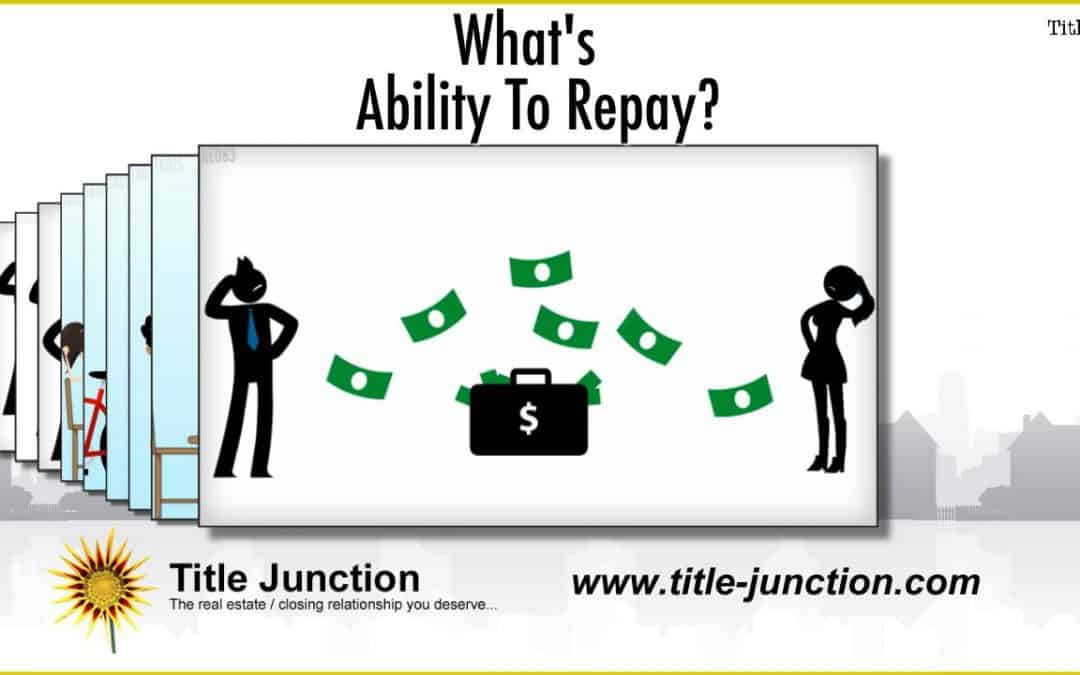What Does Ability To Repay Mean?