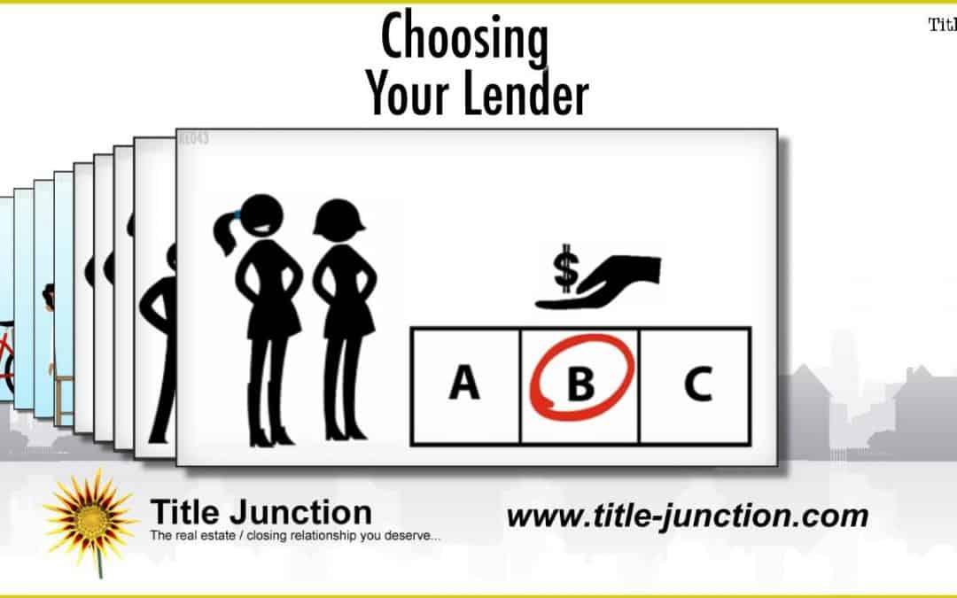 How Do I Choose The Right Lender For Me?